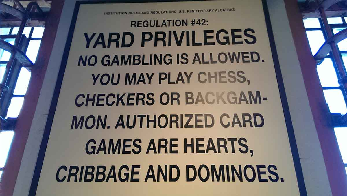 The basic Yard rules for all prisoners